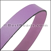 30mm STRIP flat leather LILAC - approx. 3 feet