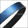 30mm STRIP flat leather METALLIC DENIM - approx. 3 feet