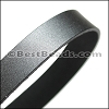 30mm STRIP flat leather GUNMETAL - approx. 3 feet