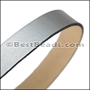 30mm STRIP flat leather ANT SILVER - approx. 3 feet