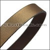 30mm STRIP flat leather METALLIC BROWN - approx. 3 feet