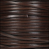3mm flat leather CHOCOLATE BROWN - per 5 meters