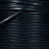 3mm flat leather NAVY - per 5 meters