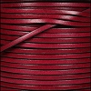 3mm flat leather PLUM - per 5 meters