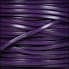 3mm flat leather DEEP PURPLE - per 5 meters