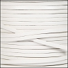 3mm flat leather WHITE - per 5 meters