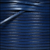 3mm flat leather ELECTRIC BLUE - per 5 meters