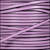 3mm flat leather LILAC - per 5 meters