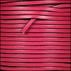 3mm flat leather FUCHSIA - per 5 meters