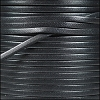 3mm flat leather GRAPHITE - per 5 meters