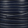 5mm flat leather ROYAL BLUE with GREY - per 5 meters