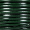 5mm flat leather DARK GREEN - per 5 meters