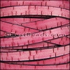 10mm flat BARK leather PINK - meter