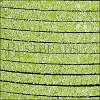 5mm flat GLITTER leather LIME GREEN - meter