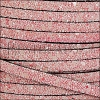 5mm flat GLITTER leather PINK - per 5 meters