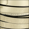 10mm flat MIRROR leather GOLD - per 2 meters