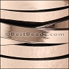 10mm flat MIRROR leather COPPER - per 2 meters
