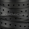 10mm flat PUNCHED leather BLACK- per meter