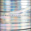 5mm flat HOLOGRAPHIC leather SILVER - per 20m SPOOL