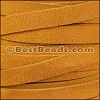 10mm flat SUEDE leather MUSTARD - meter