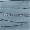 10mm flat SUEDE leather PALE BLUE - per 2 meters