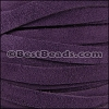 10mm flat SUEDE leather PURPLE - meter