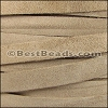 10mm flat SUEDE leather TAUPE - meter