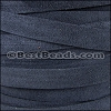 10mm flat SUEDE leather NAVY - per 2 meters