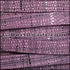 10mm flat GALAXY leather VIOLET - per 2 meters