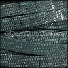 10mm flat GALAXY leather SPRUCE GREEN - per 2 meters