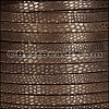 5mm flat LUXOR leather BROWN - per 5 meters
