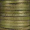 5mm flat LUXOR leather KHAKI GREEN - per 5 meters