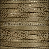 5mm flat LUXOR leather OLIVE - per 5 meters