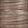 5mm flat LUXOR leather TAUPE - per 5 meters