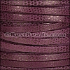 5mm flat LUXOR leather VIOLET - per 5 meters