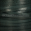 5mm flat LUXOR leather SPRUCE GREEN - per 5 meters