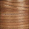 5mm flat LUXOR leather BRANDY - per 5 meters