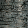 5mm flat LUXOR leather SLATE - per 5 meters