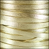 5mm flat PEARL METALLIC leather MATTE GOLD - per 5 meters
