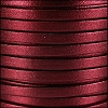 5mm flat PEARL METALLIC leather BURGUNDY - per 5 meters