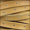 10mm flat STUDDED ARIZONA leather OLD GOLD - meter