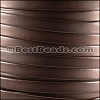 10mm flat BRUCIATO leather BROWN - per 2 meters