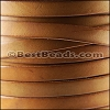 10mm flat BRUCIATO leather TAN - per 2 meters