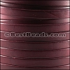 10mm flat BRUCIATO leather BURGUNDY - per 2 meters