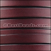 10mm flat BRUCIATO leather BURGUNDY with BLACK EDGE - per 2 meters