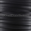 5mm flat BRUCIATO leather BLACK - per 5 meters