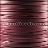 5mm flat BRUCIATO leather BURGUNDY - per 5 meters