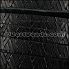 10mm flat GEOMETRIC WEAVE leather BLACK - per meter