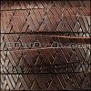 10mm flat GEOMETRIC WEAVE leather BROWN - per meter