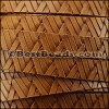 10mm flat GEOMETRIC WEAVE leather TAN - per meter